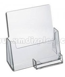 Acrylic Brochure Holder with Business Card Holder F16005B