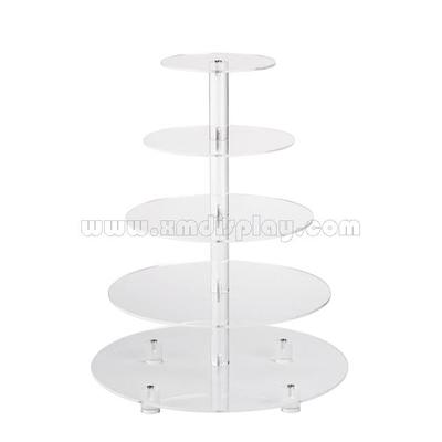 Acrylic 5-tier Cupcake Round Stand for Party Wedding Hotel F15006F