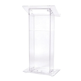 Acrylic Square Lectern with Shelf F15005R
