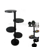 Black Acrylic 4 Tier Round Display Stand Riser F15001J