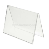 Acrylic Tent Shaped Card Holder - Single Sided F15005C