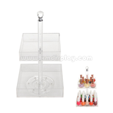 Rotating Clear Acrylic 2 Tier Nail Polish Rack F15005M