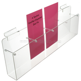 4 Section Leaflet Dispenser Slat Fix F15002B